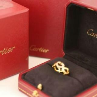 カルティエ(Cartier)のカルティエ Cハート ダイヤ リング サイズ46 750 K18金 新品仕上(リング(指輪))