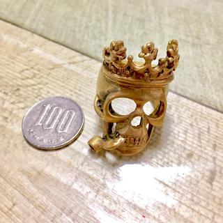 【新品】ドクロ ごつい 指輪 24号(リング(指輪))