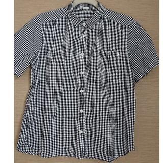 ジーユー(GU)のGUギンガムチェック シャツ(シャツ/ブラウス(半袖/袖なし))