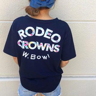 ロデオクラウンズワイドボウル フラワーレオパードルーズVネック Tシャツ 新品