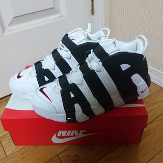 ナイキ(NIKE)のNIKE AIR MORE UPTEMPO 96 WHITE/BLACK(スニーカー)