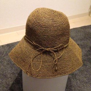 ムジルシリョウヒン(MUJI (無印良品))の無印良品 調整可たためる麦わら帽子 キャペリン ブラウン(麦わら帽子/ストローハット)