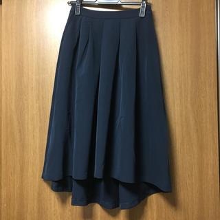 エフデ(ef-de)のエフデ スカート フレアースカート ネイビー 9号(ひざ丈スカート)