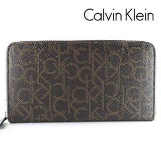 カルバンクライン(Calvin Klein)の新品 カルバンクライン ラウンドファスナー 長財布 ブラウン 79468BR(長財布)