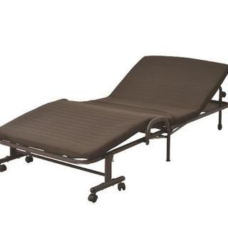 山善(YAMAZEN) 電動折りたたみベッド ダークブラウン(簡易ベッド/折りたたみベッド)