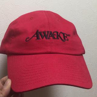 アウェイク(AWAKE)のawake  ny キャップ赤(キャップ)