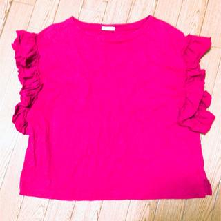 ジーユー(GU)のGU フリルシャツ(Tシャツ(半袖/袖なし))