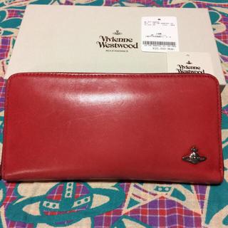 ヴィヴィアンウエストウッド(Vivienne Westwood)のVivienne Westwood 長財布 レッド(USED)美品(財布)