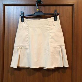 モルガン(MORGAN)の美品 モルガンのベージュのミニスカート*.(ミニスカート)