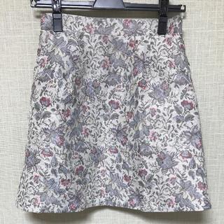 ワンアフターアナザーナイスクラップ(one after another NICE CLAUP)の花柄 刺繍 スカート(ミニスカート)