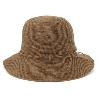 ムジルシリョウヒン(MUJI (無印良品))のラフィアこま編みたためるキャペリン (麦わら帽子/ストローハット)