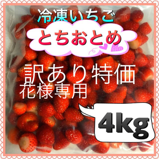 冷凍いちご  4kg  訳あり 花様専用(フルーツ)