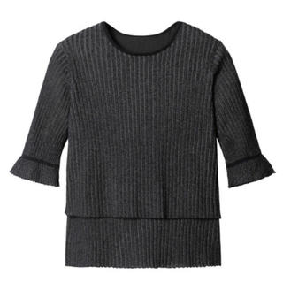 ルシェルブルー(LE CIEL BLEU)の新品 ルシェルブルー  ティアードラメトップス(カットソー(半袖/袖なし))