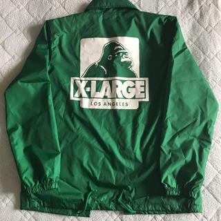 エクストララージ(XLARGE)のXLARGE コーチジャケット グリーン Mサイズ(ナイロンジャケット)