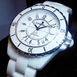 シャネル(CHANEL)の【鑑定済】CHANEL J12ホワイト 38mm(腕時計(アナログ))