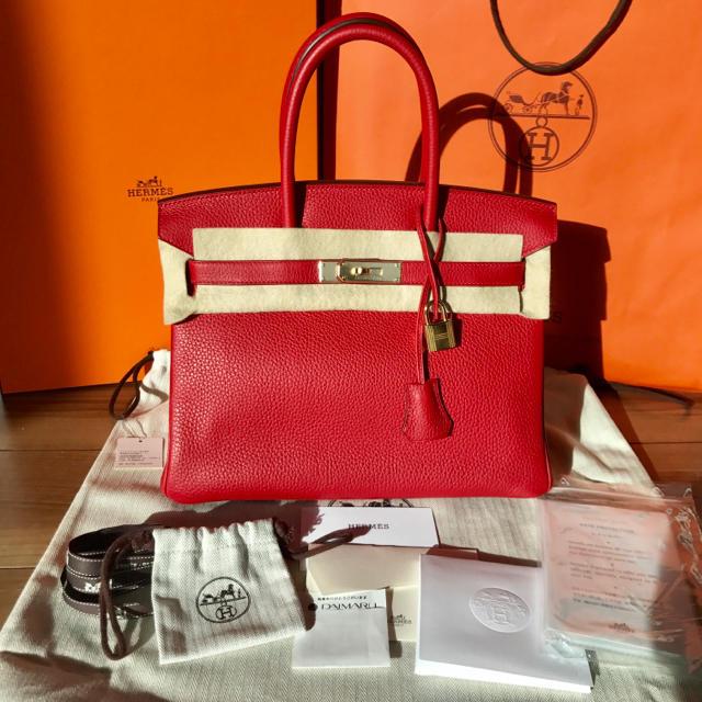Hermes(エルメス)の美品 正規品 エルメス バーキン30 ルージュカザック レディースのバッグ(ハンドバッグ)の商品写真