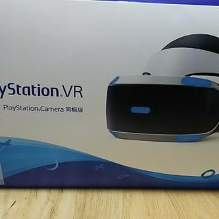 プレイステーションヴィーアール(PlayStation VR)のPSVR 新型モデル PScamera同梱版 CUHJ-16003 中古品(家庭用ゲーム機本体)