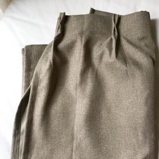MUJI (無印良品) - 無印良品 カーテン 茶色 防炎・遮光 178×100 3枚