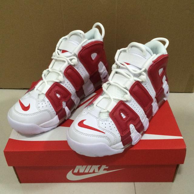 26cm 確実正規品 ナイキ モアテン 赤×白 メンズの靴/シューズ(スニーカー