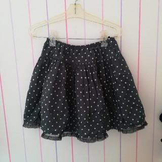 ジーユー(GU)のふんわり可愛い💕水玉柄スカート(スカート)