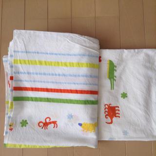 イケア(IKEA)のIKEAベビー、キッズかけ布団カバーと枕カバー(シーツ/カバー)