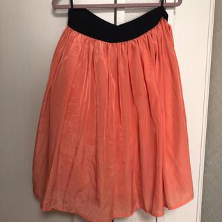 クチュールブローチ(Couture Brooch)のオレンジのふんわりスカート Lサイズ(ひざ丈スカート)