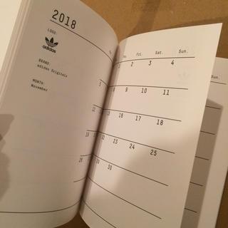 アディダス(adidas)のアディダスオリジナルス adidas originals 手帳 2018 ノート(カレンダー/スケジュール)