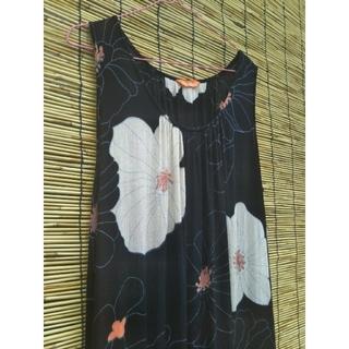マライカ(MALAIKA)のUSED sale❣ マライカ ロング フレアワンピース 黒地花柄(ロングワンピース/マキシワンピース)