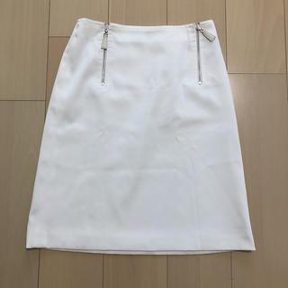 バーバリー(BURBERRY)の*BURBERRY LONDON ホワイトスカート*(ひざ丈スカート)