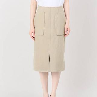 プラージュ(Plage)のPlage タイトスカート ベージュ34サイズ(ひざ丈スカート)