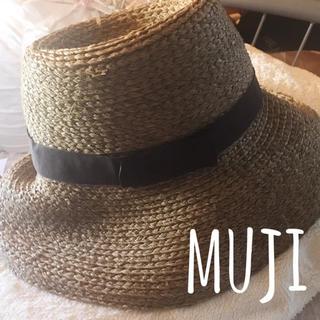 ムジルシリョウヒン(MUJI (無印良品))の無印良品 麦わら帽子 ブラウン(麦わら帽子/ストローハット)