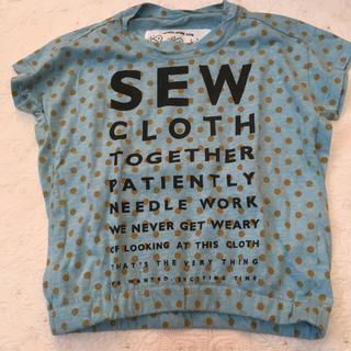 ニードルワークスーン(NEEDLE WORK SOON)のニードルワークスーン 110サイズ Tシャツ 水色水玉 (Tシャツ/カットソー)