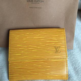 ルイヴィトン(LOUIS VUITTON)の未使用 ルイヴィトン エピ  二つ折財布(財布)