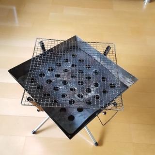 ユニフレーム(UNIFLAME)のユニフレーム ファイヤーグリル  新品焼き網付き(ストーブ/コンロ)