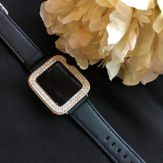 アップルウォッチ(Apple Watch)のアップルウォッチ ベゼル ベルト 文字盤 カバーapple watch 38mm(金属ベルト)