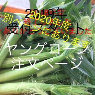 ヤングコーン注文ページ(野菜)