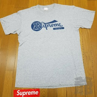 シュプリーム(Supreme)の【状態◎】01SS Supreme RECORDS Tee グレー L【送料込】(Tシャツ/カットソー(半袖/袖なし))