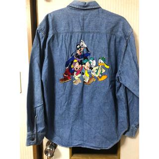 ディズニー(Disney)のディズニー 刺繍 デニムシャツ  ビンテージ風(Gジャン/デニムジャケット)