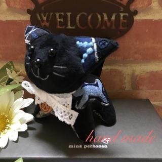 ミナペルホネン(mina perhonen)のmina  perhonen 子猫ちゃんブラック♪ミナペルホネン (専用です)(ぬいぐるみ)