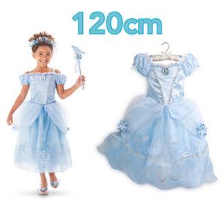 120cm♡シンデレラ♡水色♡ワンピース♡プリンセスドレス♡(ワンピース)