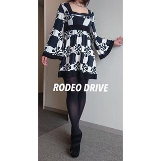 【広尾 RODEO DRIVE】チュニックワンピース(ミニワンピース)
