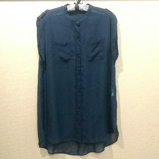 ジーユー(GU)の【GU】ノースリーブストライプシャツ(シャツ/ブラウス(半袖/袖なし))