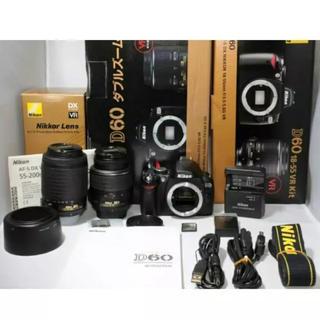 ニコン(Nikon)の★美品★Nikon ニコン D60 NIKKOR 18-55mm 55-200(デジタル一眼)