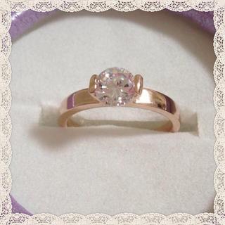 1.0カラットczダイアモンドリング(リング(指輪))