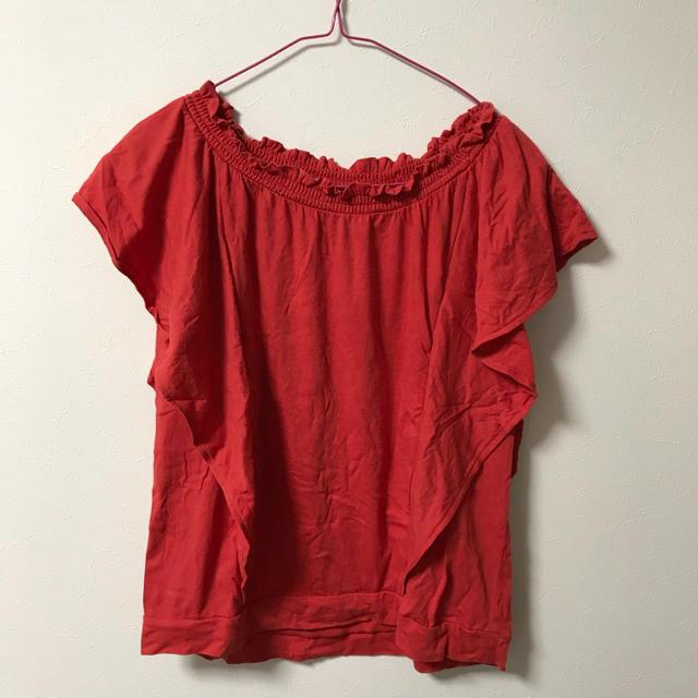 GU(ジーユー)のオフショルダー レディースのトップス(シャツ/ブラウス(半袖/袖なし))の商品写真