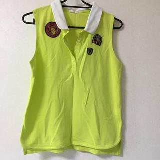 ジーユー(GU)のポロシャツ(袖なし)(ポロシャツ)