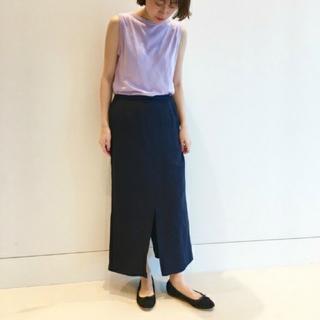 デミルクスビームス(Demi-Luxe BEAMS)のリネン タイト スカート(ひざ丈スカート)