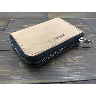 手のひらサイズ!ミニL字ファスナー財布【ナチュラル】(財布)