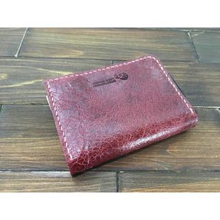 手のひらサイズ!ミニL字ファスナー財布【豚クラックレザー】(財布)