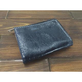 手のひらサイズ!ミニL字ファスナー財布【豚ワックスレザー】(財布)